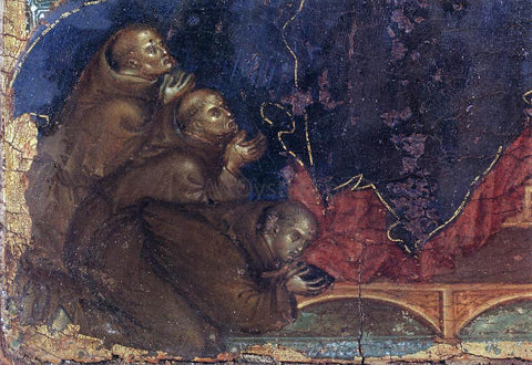 Duccio Di Buoninsegna Madonna of the Franciscans (detail) - Hand Painted Oil Painting
