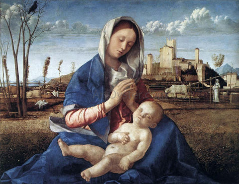 Giovanni Bellini Madonna of the Meadow (Madonna del Prato) - Hand Painted Oil Painting
