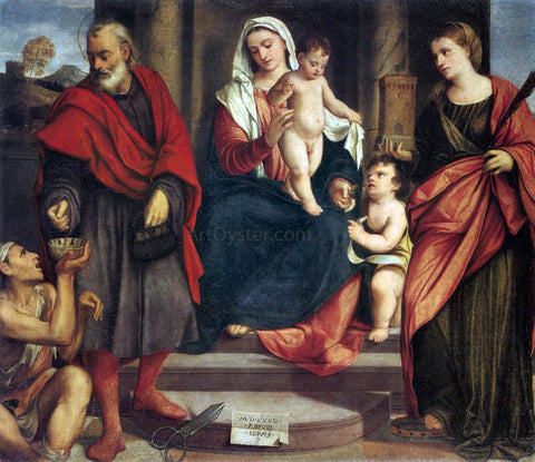 Bonifazio Veronese Madonna of the Tailors - Hand Painted Oil Painting