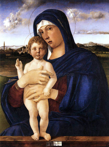 Giovanni Bellini Madonna with Blessing Child - Hand Painted Oil Painting