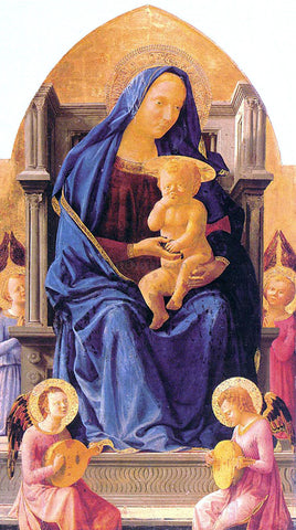 Masaccio Madonna with Child and Angels - Hand Painted Oil Painting