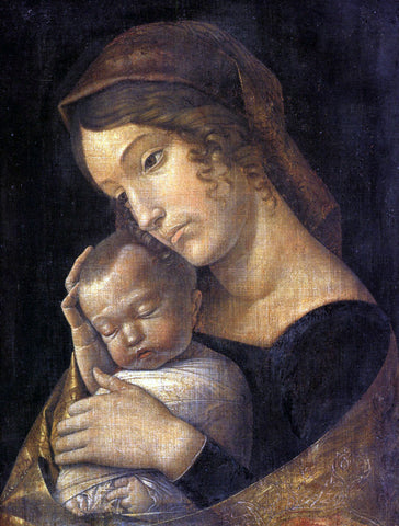 Andrea Mantegna Madonna with Sleeping Child - Hand Painted Oil Painting