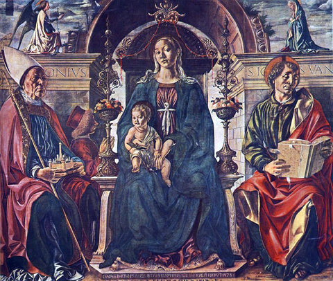 Francesco Del Cossa Madonna with the Child and Saints - Hand Painted Oil Painting