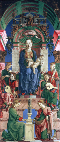 Cosme Tura Madonna with the Child Enthroned (panel from the Roverella Polyptych) - Hand Painted Oil Painting