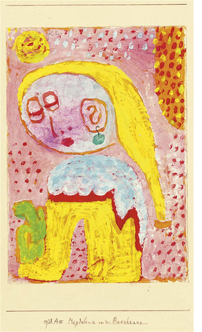 Paul Klee Magdalena Before the Conversion - Hand Painted Oil Painting