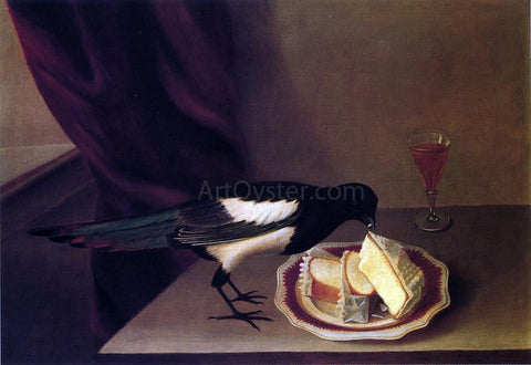 Rubens Peale Magpie Eating Cake - Hand Painted Oil Painting