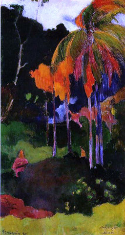 Paul Gauguin Mahana maa, I (also known as The Moment of Truth, I) - Hand Painted Oil Painting