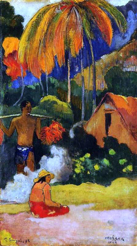 Paul Gauguin Mahana Maa, II (also known as The Moment of Truth, II) - Hand Painted Oil Painting