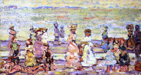 Maurice Prendergast Maine Beach - Hand Painted Oil Painting