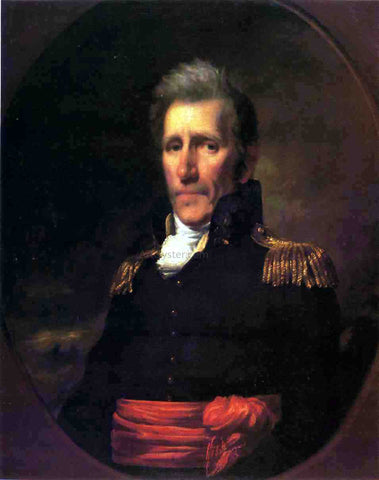 Samuel Lovett Waldo Major General Andrew Jackson - Hand Painted Oil Painting