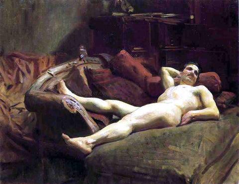 John Singer Sargent Male Model Resting - Hand Painted Oil Painting