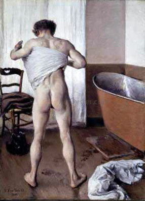 Gustave Caillebotte Man at His Bath - Hand Painted Oil Painting