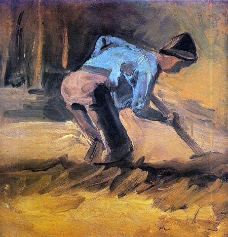 Vincent Van Gogh Man Digging - Hand Painted Oil Painting