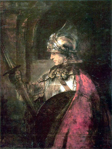 Rembrandt Van Rijn Man in Arms - Hand Painted Oil Painting