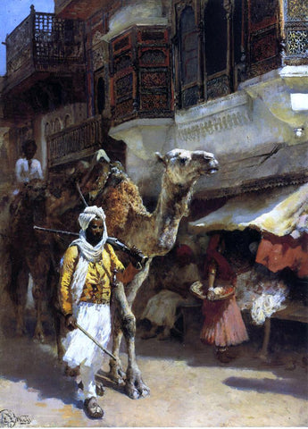 Edwin Lord Weeks Man Leading a Camel - Hand Painted Oil Painting