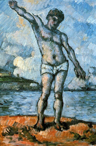 Paul Cezanne Man Standing, Arms Extended - Hand Painted Oil Painting