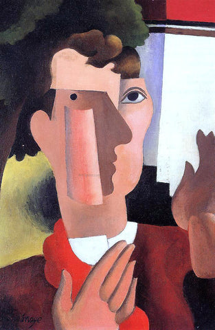 Roger De la Fresnaye Man with a Red Kerchief - Hand Painted Oil Painting