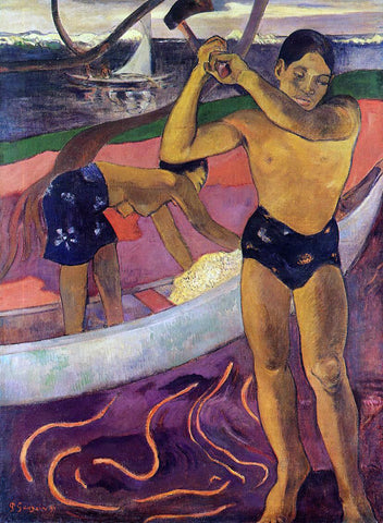 Paul Gauguin Man with an Ax - Hand Painted Oil Painting