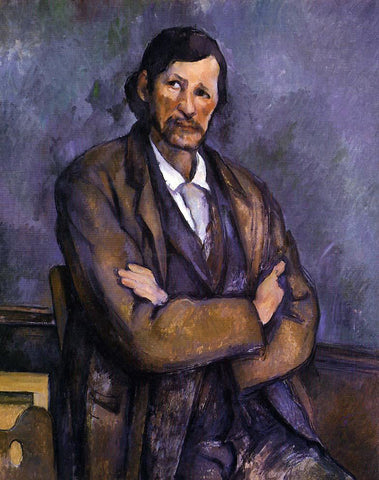 Paul Cezanne Man with Crossed Arms - Hand Painted Oil Painting