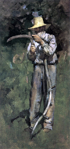Theodore Robinson Man with Sythe - Hand Painted Oil Painting