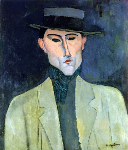 Amedeo Modigliani Man witih Hat - Hand Painted Oil Painting