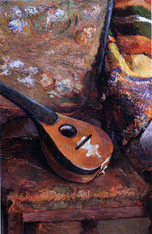Paul Gauguin Mandolin on a Chair - Hand Painted Oil Painting