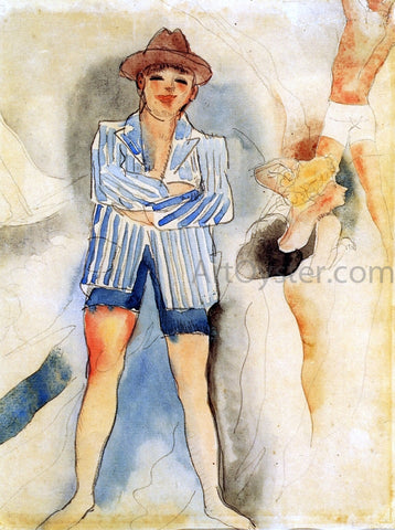 Charles Demuth Man in Blazer - Hand Painted Oil Painting