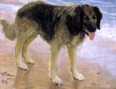 Ilia Efimovich Repin Man's Best Friend - Hand Painted Oil Painting