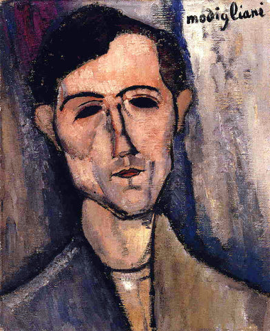 Amedeo Modigliani Man's Head (also known as Portrait of a Poet) - Hand Painted Oil Painting