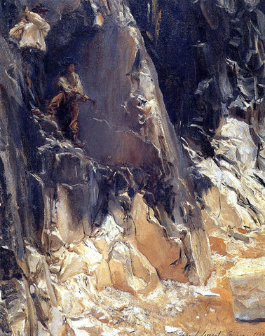 John Singer Sargent Marble Quarries at Carrara - Hand Painted Oil Painting
