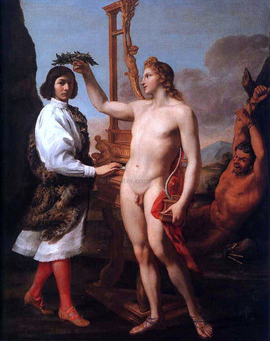 Andrea Sacchi Marcantonio Pasquilini Crowned by Apollo - Hand Painted Oil Painting