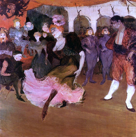 Henri De Toulouse-Lautrec Marcelle Lender Dancing in the Bolero in 'Chilperic' - Hand Painted Oil Painting