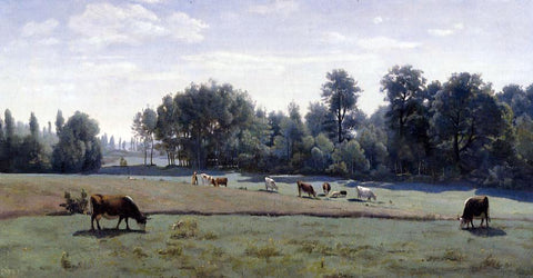 Jean-Baptiste-Camille Corot Marcoussis - Cows Grazing - Hand Painted Oil Painting