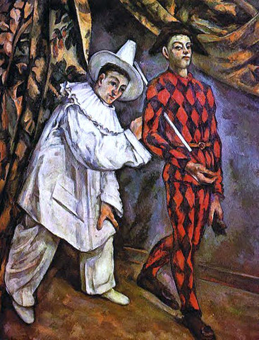 Paul Cezanne Mardi Gras - Hand Painted Oil Painting