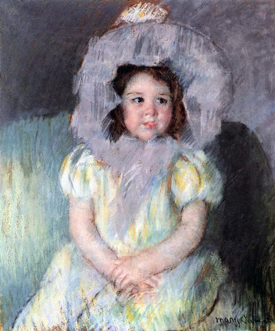 Mary Cassatt Margot in White - Hand Painted Oil Painting