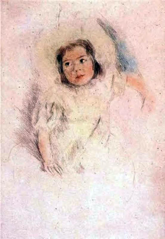 Mary Cassatt Margot Wearing a Bonnet - Hand Painted Oil Painting