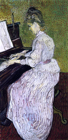 Vincent Van Gogh Marguerite Gachet at the Piano - Hand Painted Oil Painting