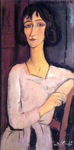 Amedeo Modigliani Marguerite Seated - Hand Painted Oil Painting