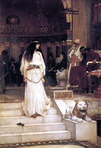 John William Waterhouse Mariamne Leaving the Judgement Seat of Herod - Hand Painted Oil Painting