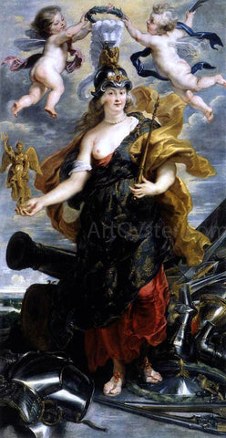 Peter Paul Rubens Marie de Medicis as Bellona - Hand Painted Oil Painting
