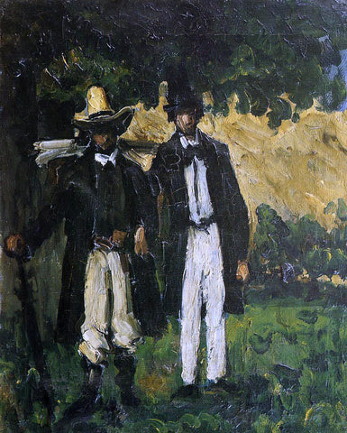 Paul Cezanne Marion and Valabregue Setting out for Motif - Hand Painted Oil Painting