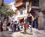 Frederick Arthur Bridgeman Marketplace in North Africa - Hand Painted Oil Painting
