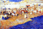 Theo Van Rysselberghe Moroccan Market - Hand Painted Oil Painting
