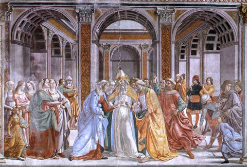 Domenico Ghirlandaio Marriage of Mary - Hand Painted Oil Painting