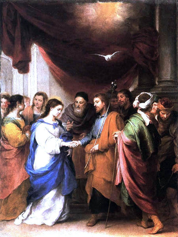 Bartolome Esteban Murillo Marriage of the Virgin - Hand Painted Oil Painting