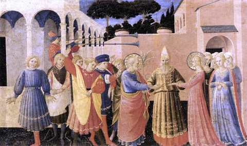 Fra Angelico Marriage of the Virgin (The Cortona Altarpiece) - Hand Painted Oil Painting