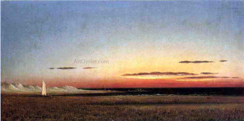 Martin Johnson Heade Marsh Scene at Dusk - Hand Painted Oil Painting