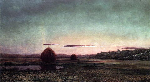 Martin Johnson Heade Marsh Scene, Sunset - Sketch - Hand Painted Oil Painting