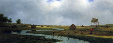 Martin Johnson Heade Marshfield Meadows - Hand Painted Oil Painting