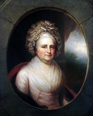 Rembrandt Peale Martha Washington - Hand Painted Oil Painting